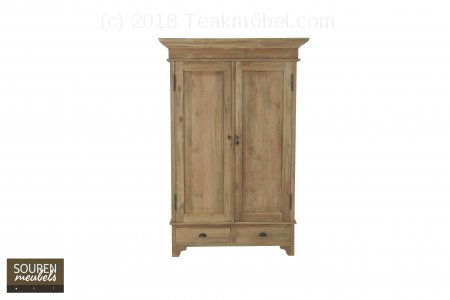 Teak Schrank 2-Türen 120 x 55 x 210 cm