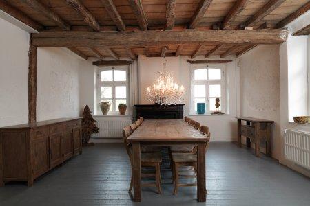 Teak Tisch altes Holz 280 x 100 cm