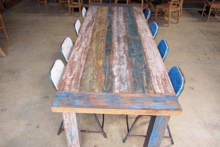 Teak Tisch Paint