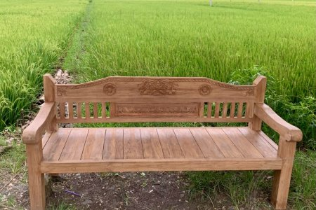 TEAK LOUNGEBANK CARVING 200CM