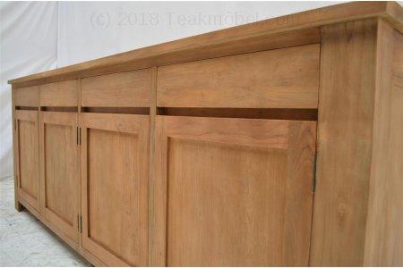 teak anrichte 200 x 90 x 50 cm. Black Bedroom Furniture Sets. Home Design Ideas