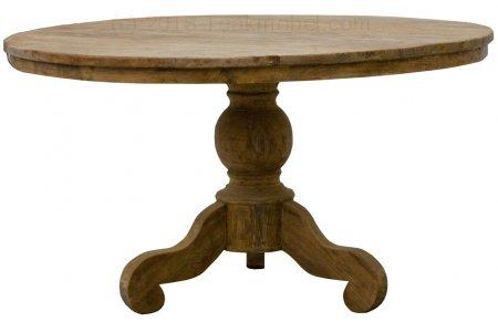 Teak Tisch rund Ø 160 cm altes Holz