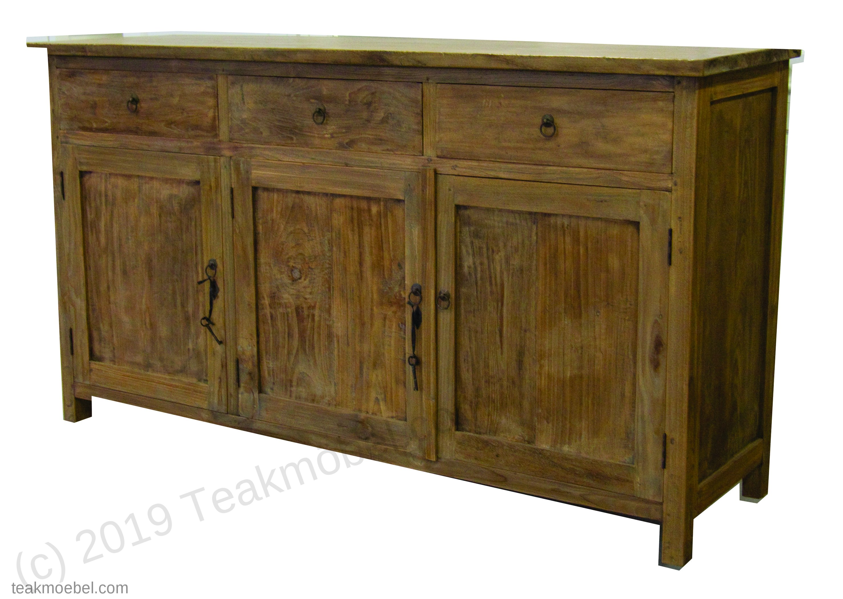 teak anrichte altes holz 160 x 50 x 90 cm teakm. Black Bedroom Furniture Sets. Home Design Ideas