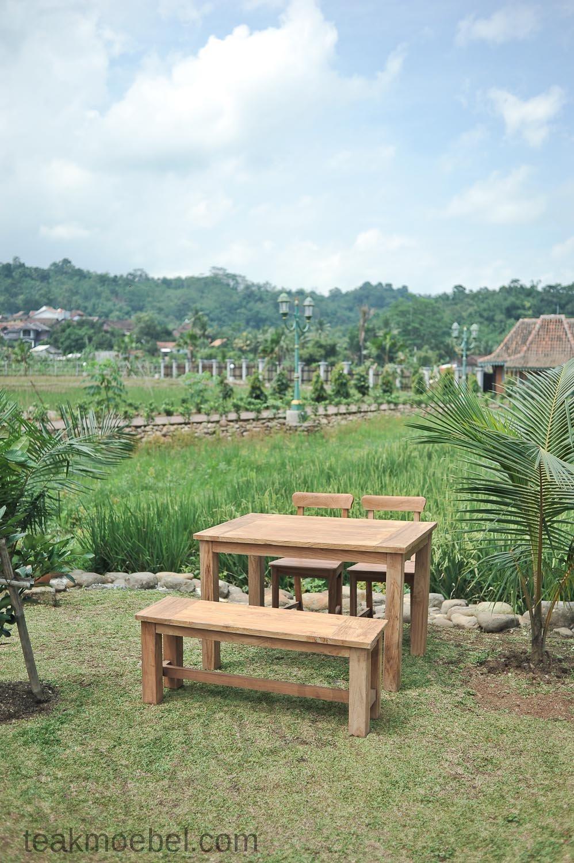 Gartentisch 120x80cm mit 2 st hle und bank for Gartentisch und stuhle set