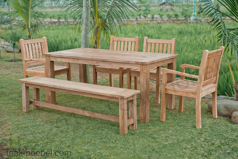 Gartentisch 180x90cm mit 4 beaufort st hle und bank - Gartentisch mit bank ...