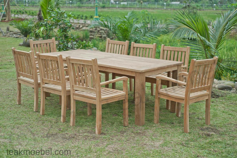 Gartentisch 220x100cm Mit 8 Beaufort Stuhle Teakmobel Com