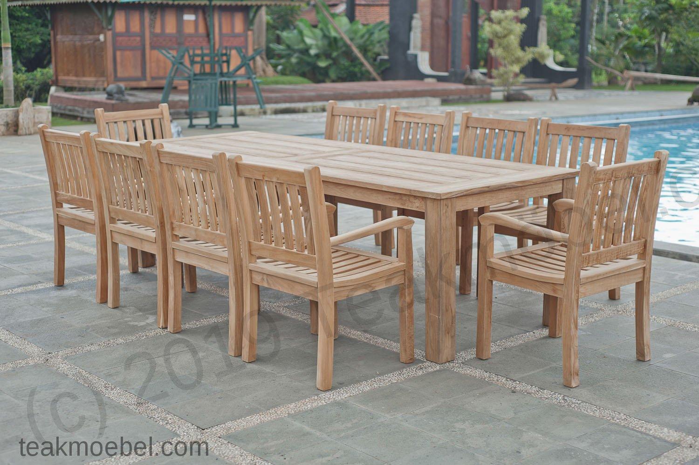 Gartentisch 280x100cm Mit 10 Beaufort Stuhle