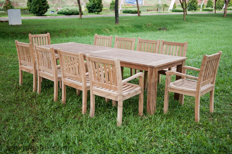 Gartentisch 300cm Mit 10 Beaufort Stühle