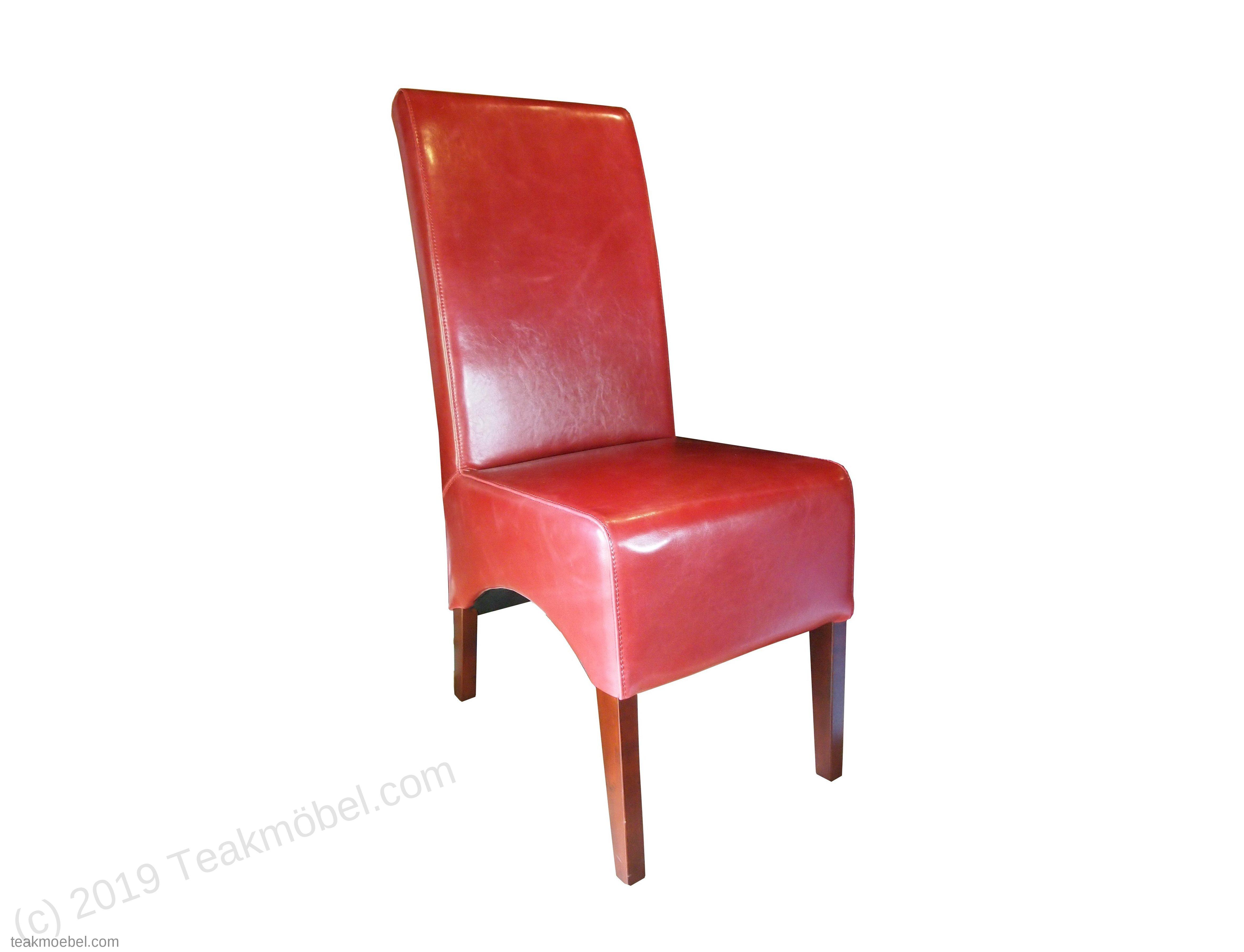 leder stuhl rot teakm. Black Bedroom Furniture Sets. Home Design Ideas