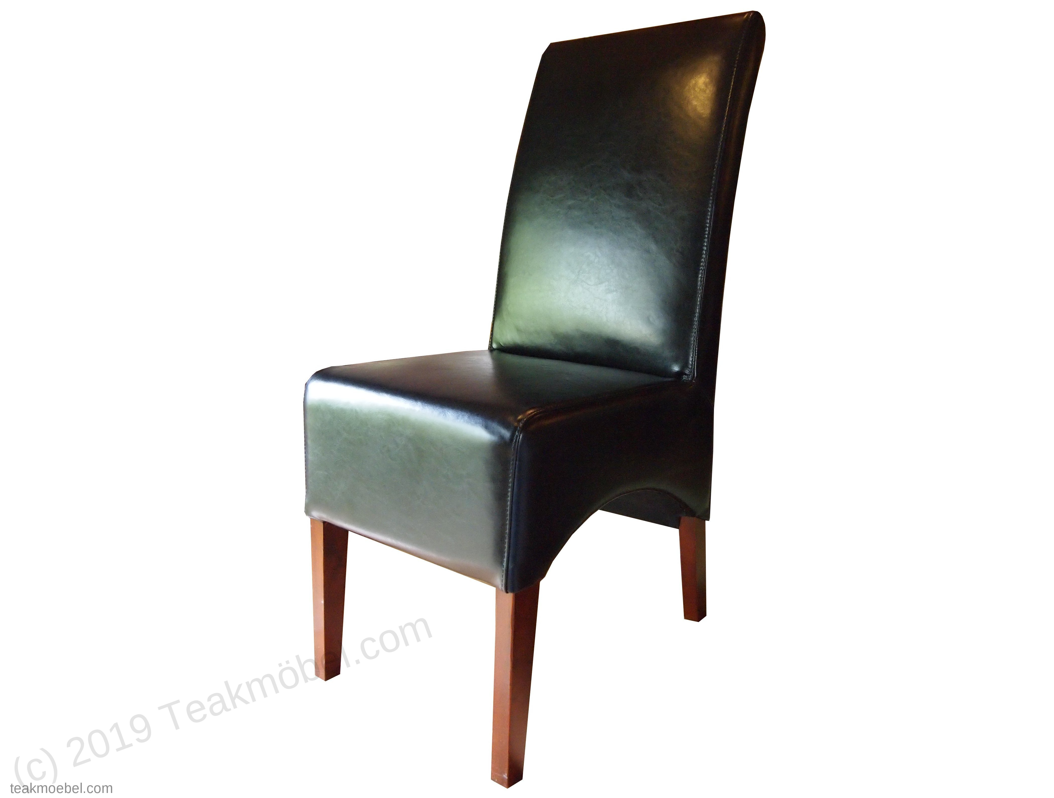 Leder stuhl schwarz teakm - Stuhl leder schwarz ...