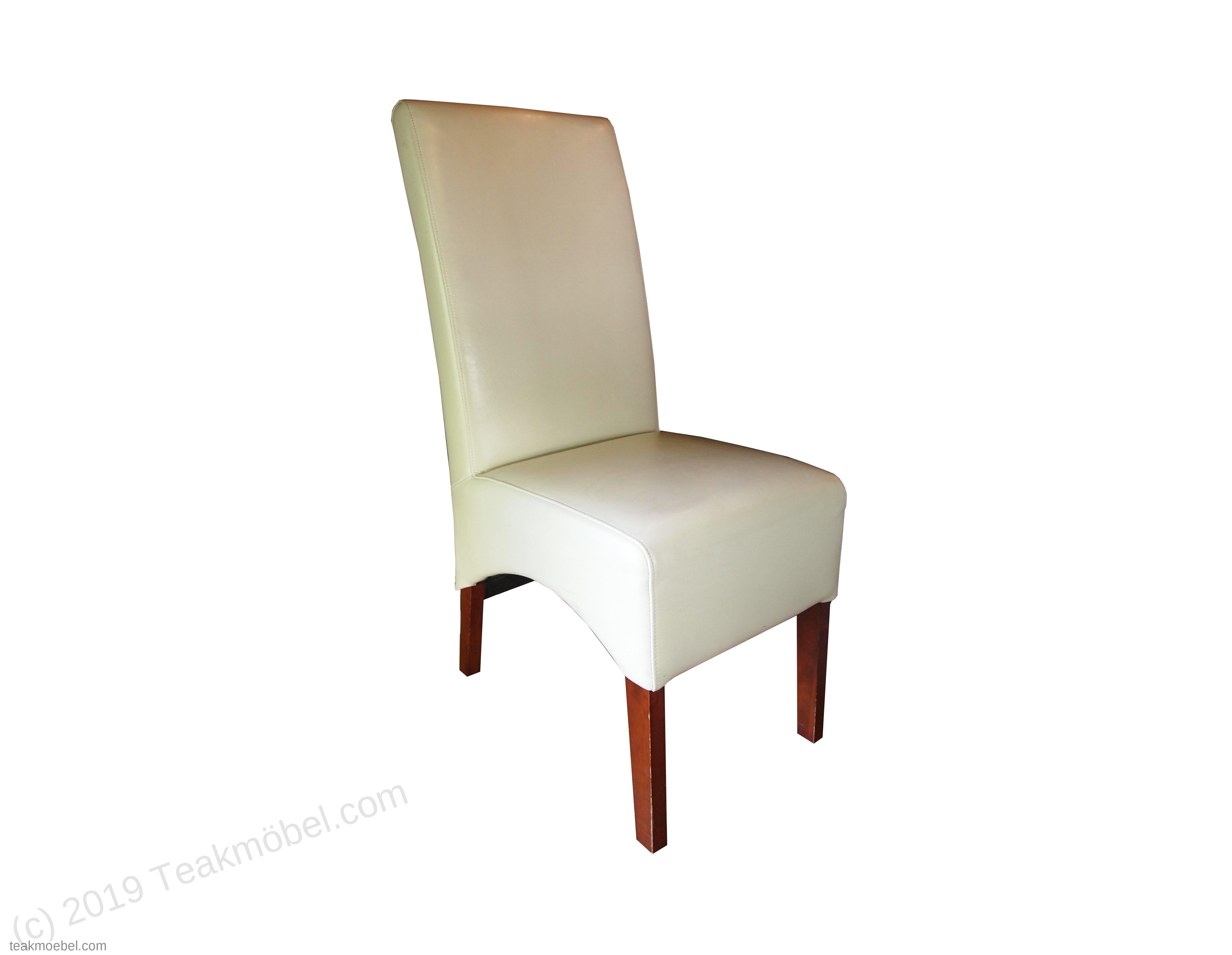 Leder Stuhl Weiß