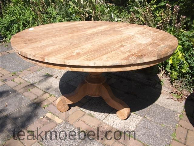 teak tisch rund 140 cm. Black Bedroom Furniture Sets. Home Design Ideas
