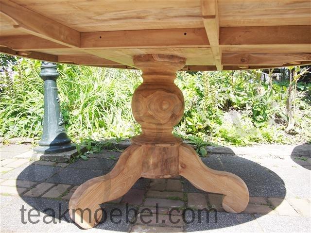teak tisch rund 170 cm teakm. Black Bedroom Furniture Sets. Home Design Ideas