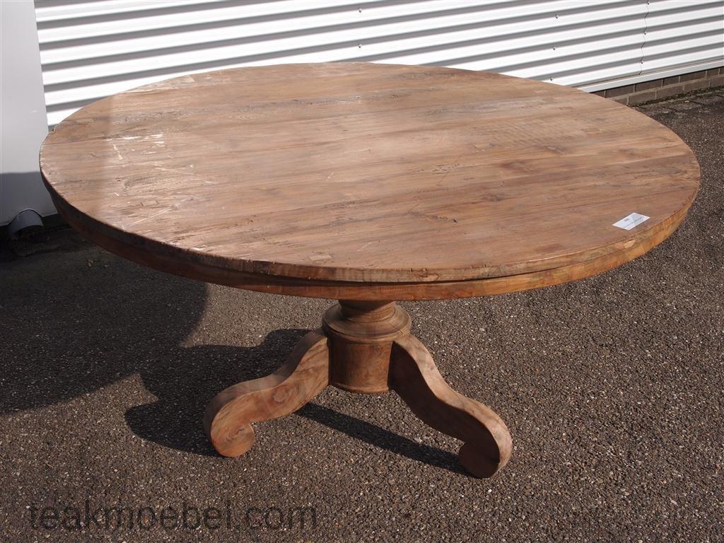 Teak Tisch Rund ø 150 Cm Altes Holz Teakmöbelcom