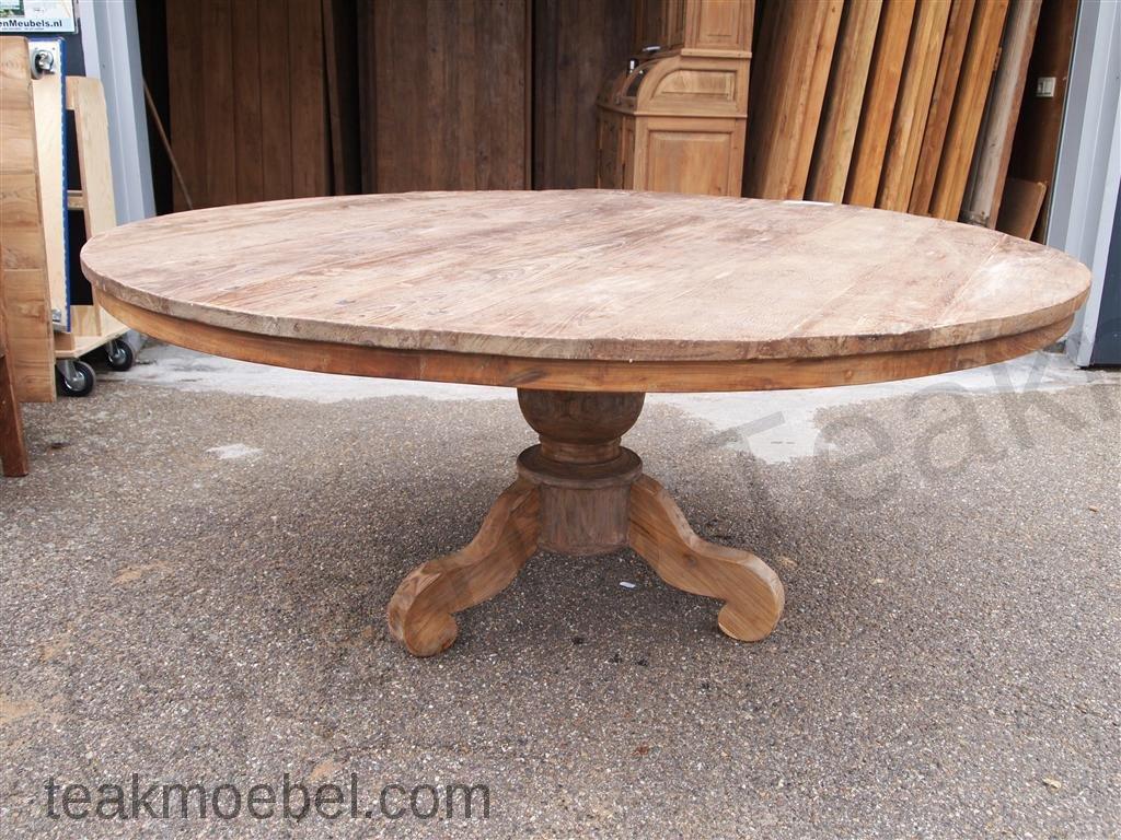 Teak Tisch Rund ø 180 Cm Altes Holz Teakmöbelcom