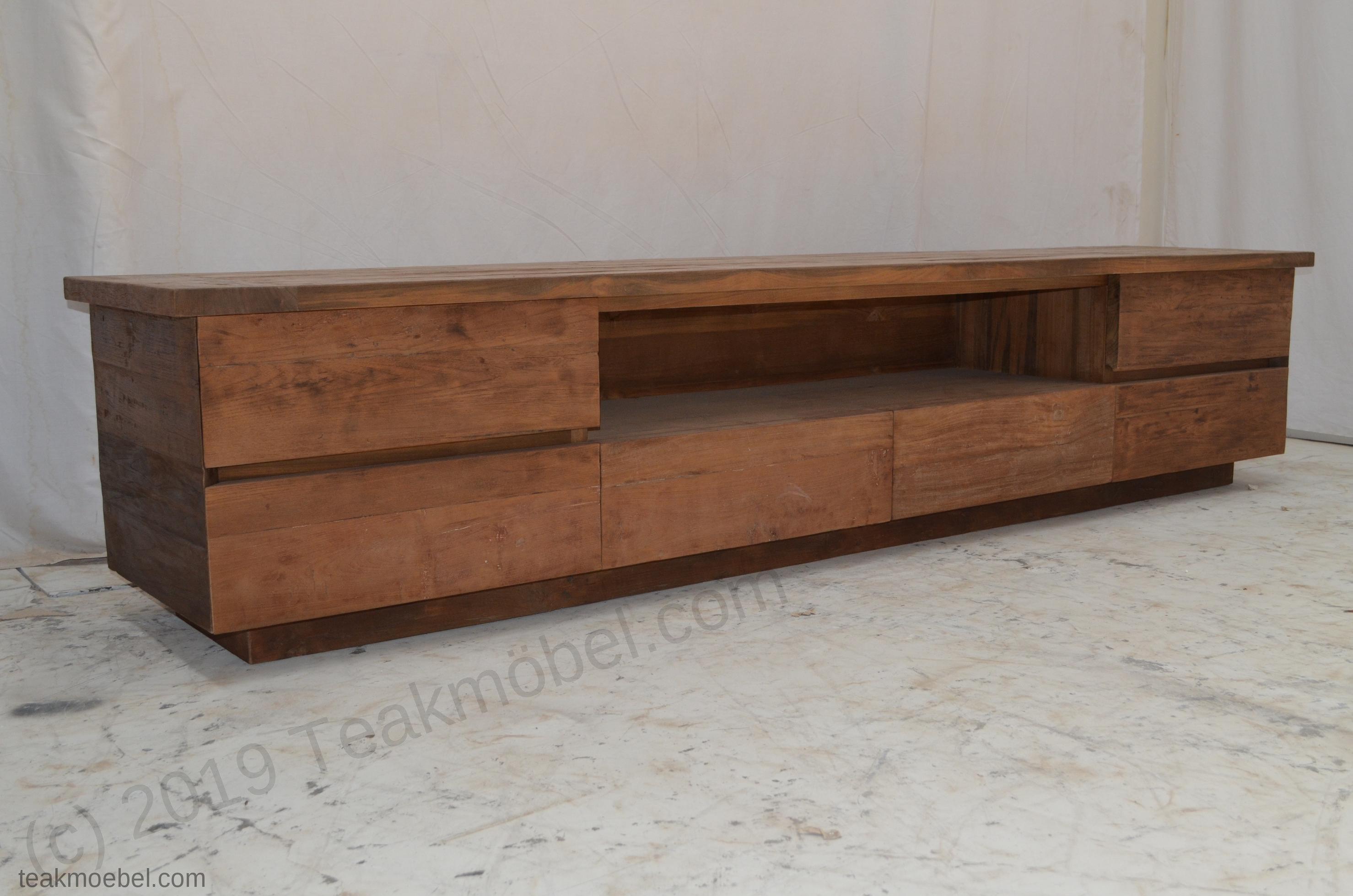 Sideboard Fernsehmöbel teak fernsehmoebel dingklik 240cm teakmöbel com