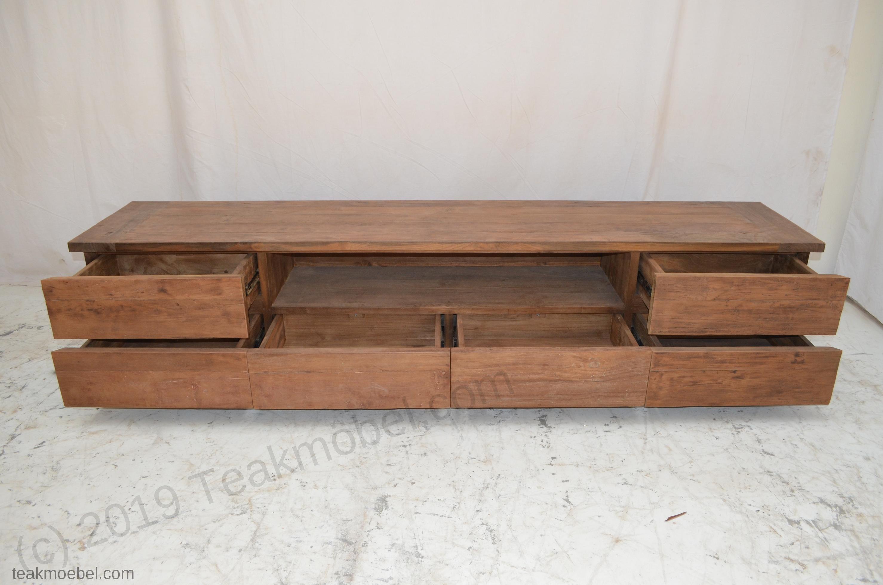 teak fernsehmoebel dingklik 240cm teakm. Black Bedroom Furniture Sets. Home Design Ideas