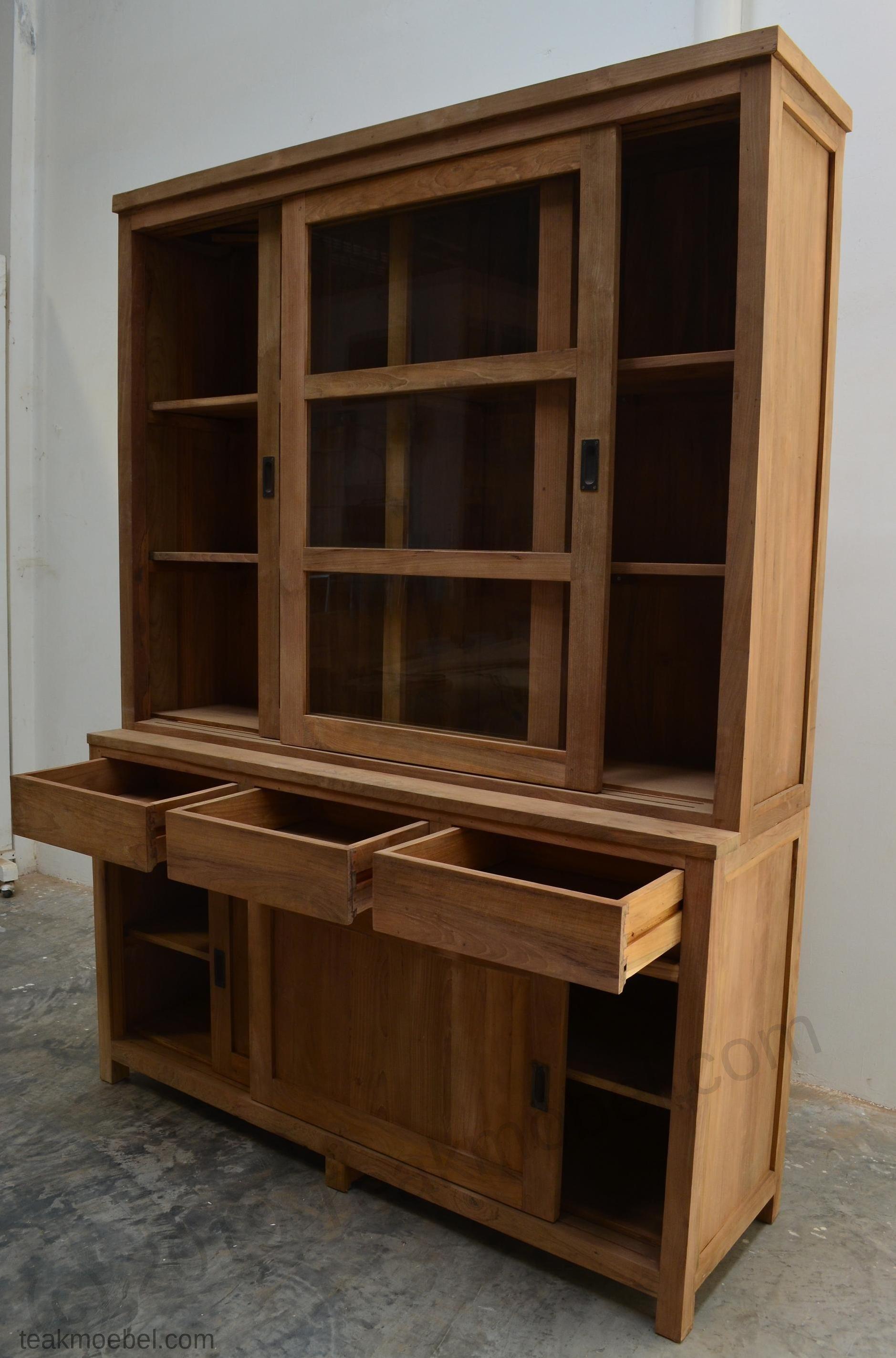 Teak Schrank 160cm Modern | Teakmöbel.com