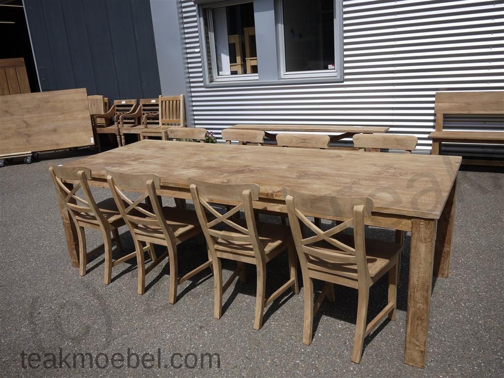 teak tisch 260 x 100 cm teakm. Black Bedroom Furniture Sets. Home Design Ideas