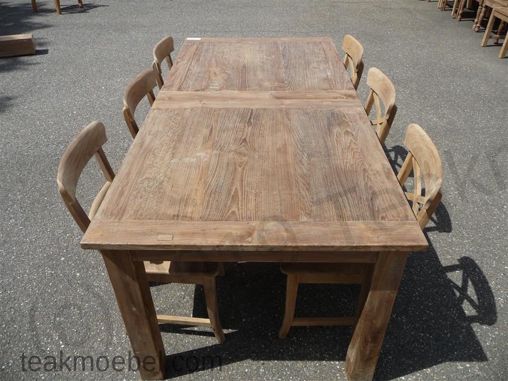 Teak Tisch Altes Holz 200   250   300 X 100 Cm Ausziehbar   Bild 12