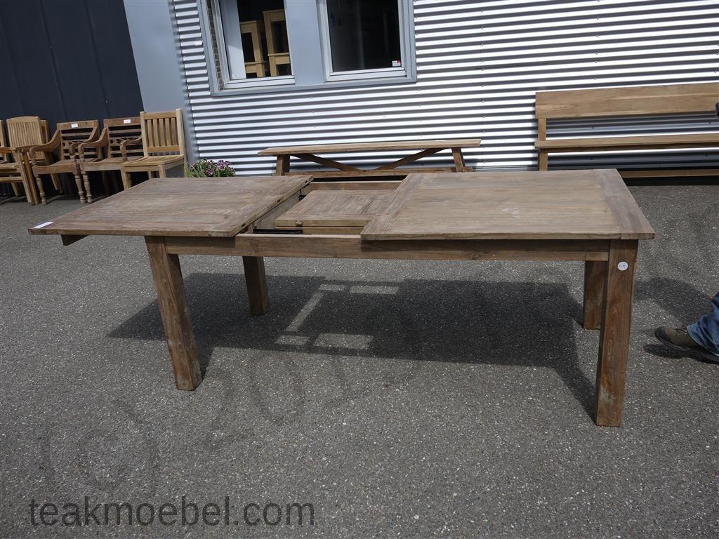 Teak Tisch Altes Holz 200 250 300 X 100 Cm Ausziehbar