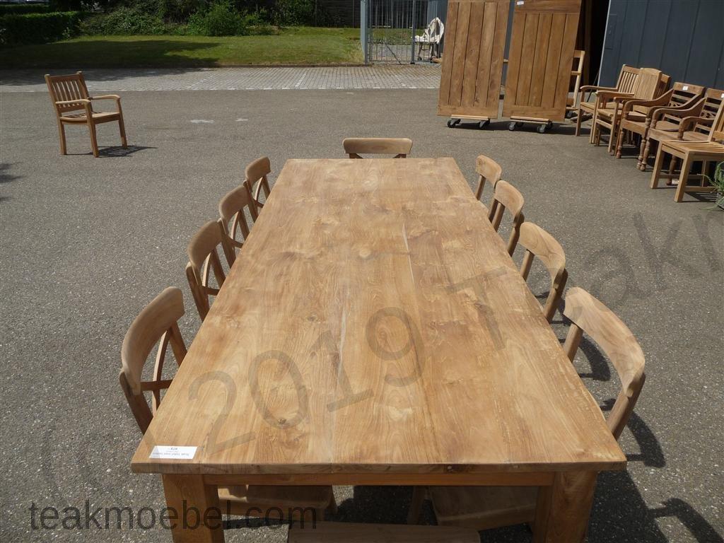 Teak tisch mit schubladen 260 x 100 cm teakm for Kuchenunterschrank mit schubladen 100 cm