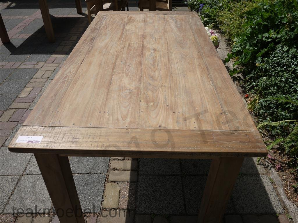 teak tisch aus altem holz 180 x 90 cm teakm. Black Bedroom Furniture Sets. Home Design Ideas