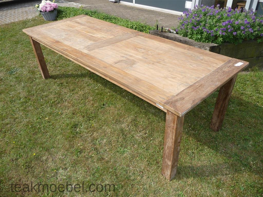 teak tisch altes holz 260 x 100 cm teakm. Black Bedroom Furniture Sets. Home Design Ideas