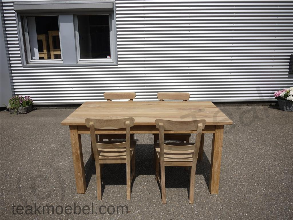 teak tisch mit schubladen 160 x 90 cm teakm. Black Bedroom Furniture Sets. Home Design Ideas