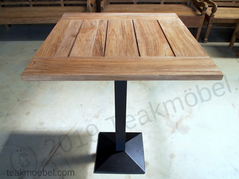 teakholz bistro stehtisch 80x70cm teakm. Black Bedroom Furniture Sets. Home Design Ideas