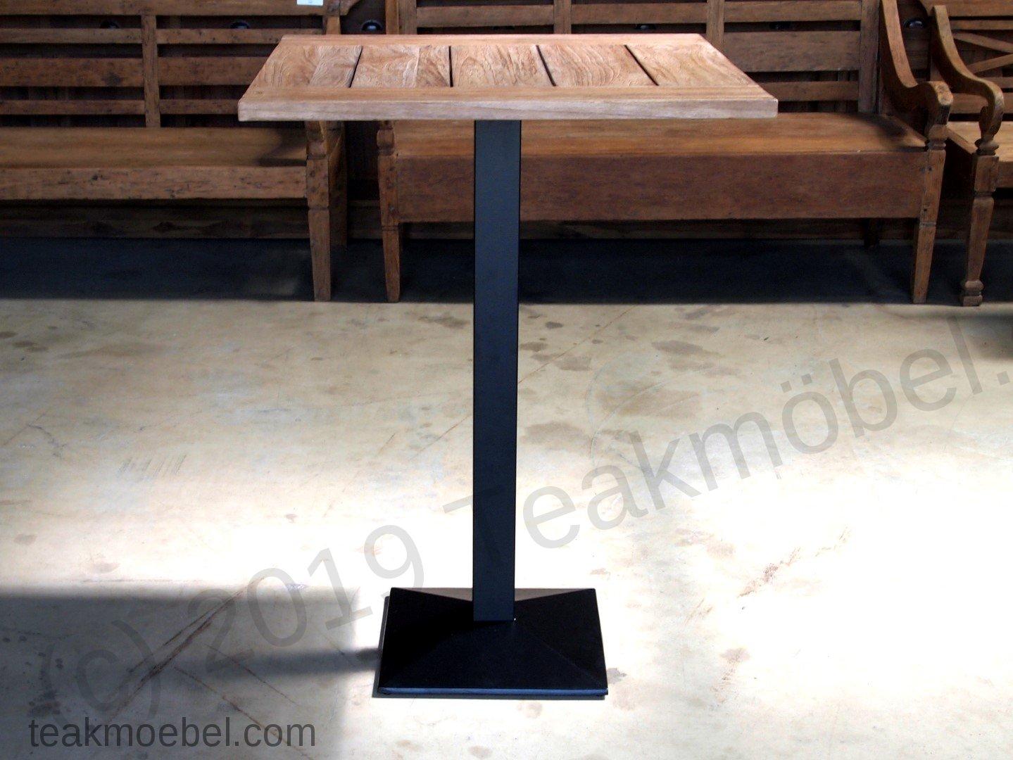 bistro stehtisch 80x80cm teakm. Black Bedroom Furniture Sets. Home Design Ideas