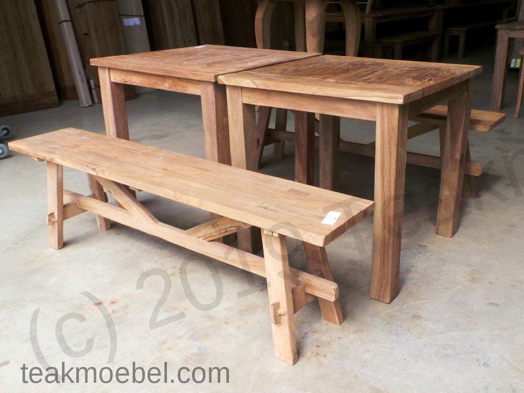 bistro set sitzgruppe 4tlg teakm. Black Bedroom Furniture Sets. Home Design Ideas