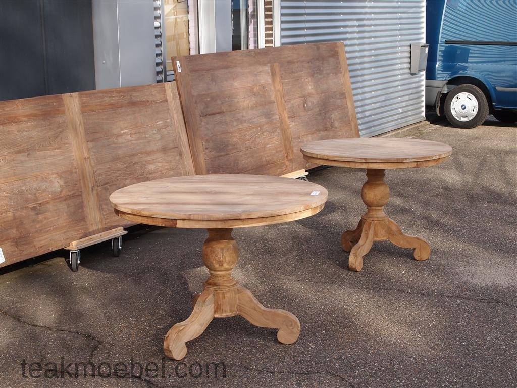 teak tisch rund 100 cm teakm. Black Bedroom Furniture Sets. Home Design Ideas