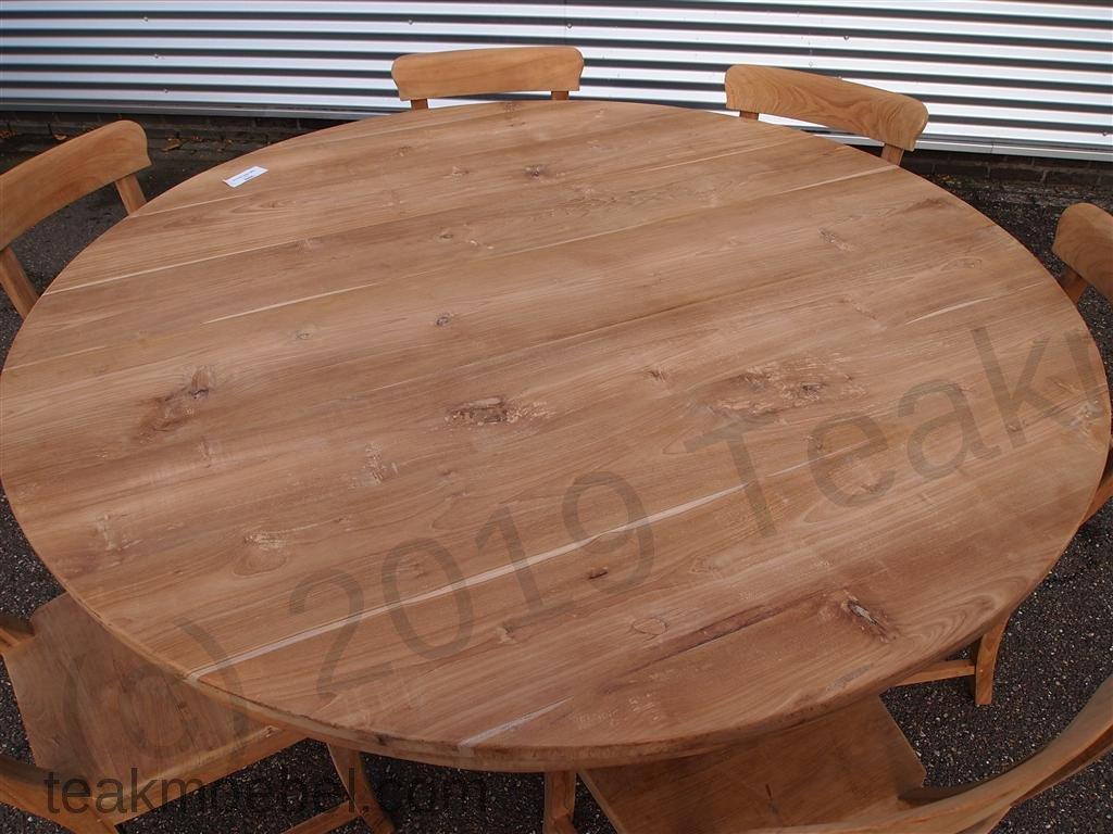 teak tisch rund 160 cm. Black Bedroom Furniture Sets. Home Design Ideas