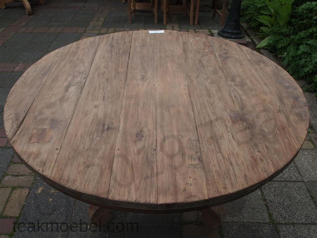 Finest Teak Tisch Rund Cm Altes Holz Bild With Balkontisch Und Sthle