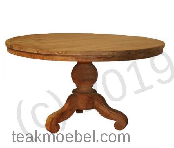 teak tisch rund 120 cm teakm. Black Bedroom Furniture Sets. Home Design Ideas