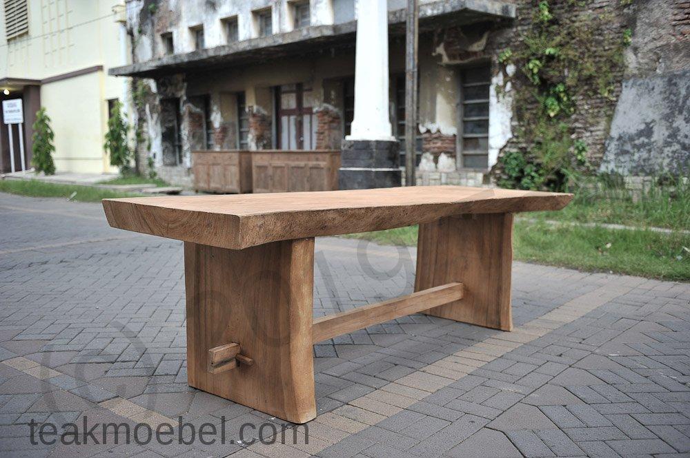 Baumstamm Tisch 250cm Teakmobel Com