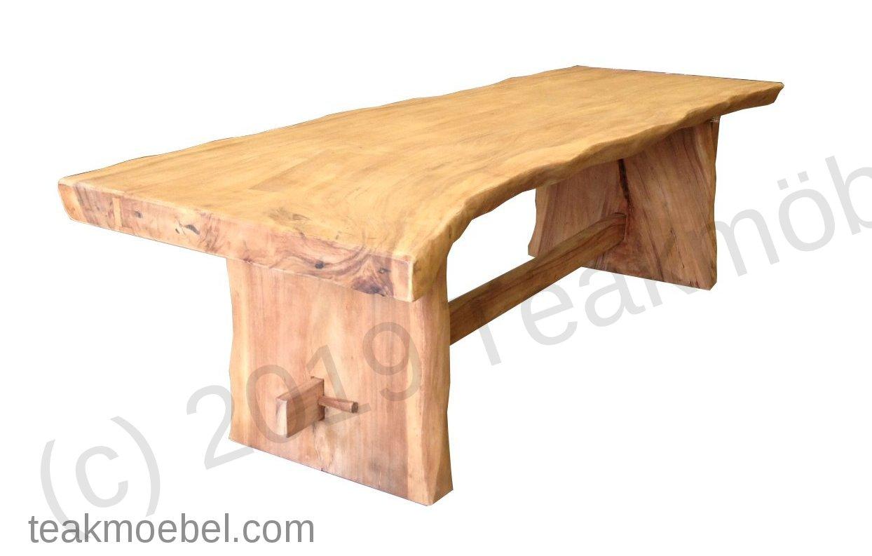 baumstamm tisch 250cm teakm. Black Bedroom Furniture Sets. Home Design Ideas