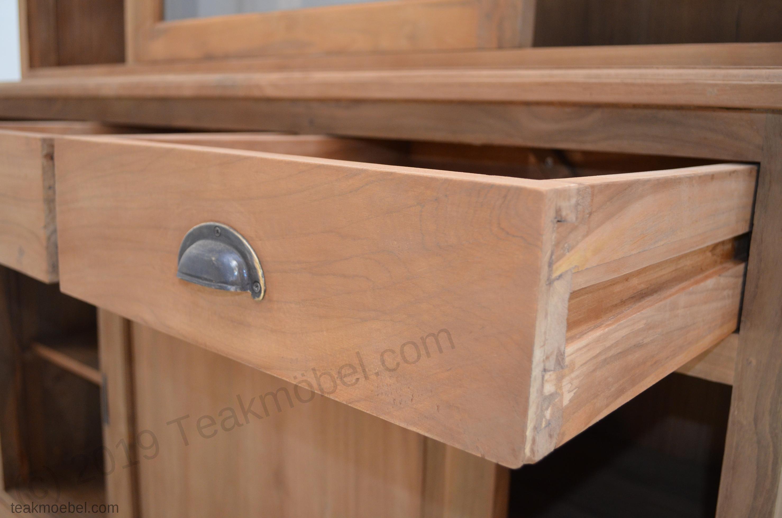 teak buffetschrank 140cm teakm. Black Bedroom Furniture Sets. Home Design Ideas