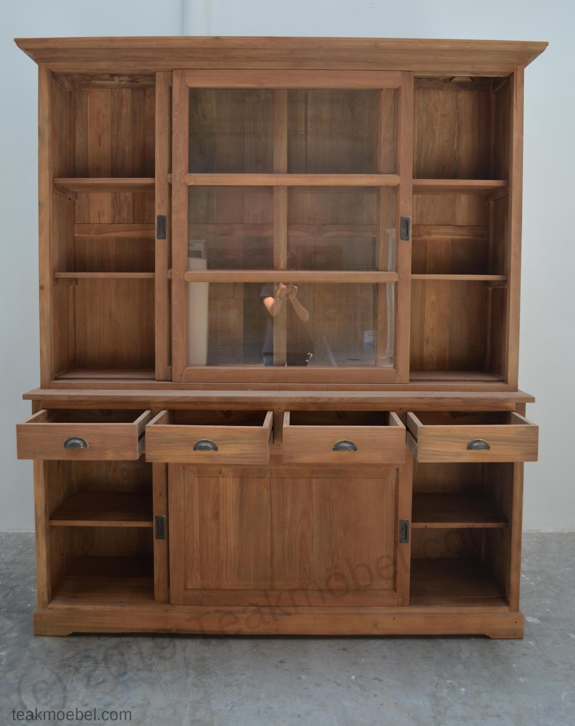 teak buffetschrank 180cm. Black Bedroom Furniture Sets. Home Design Ideas