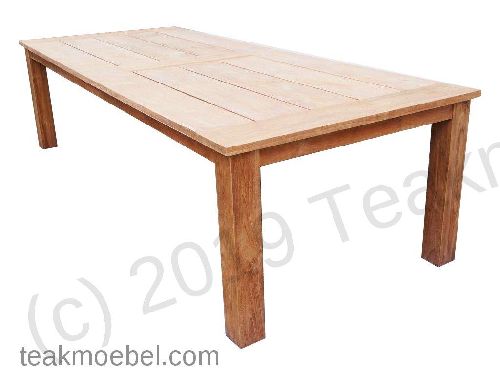teak gartentisch 300 x 120 cm teakm. Black Bedroom Furniture Sets. Home Design Ideas