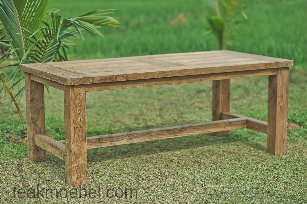 Teak Gartentisch 200cm Mammut Teakmobel Com