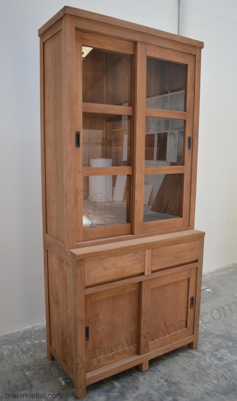 teak schrank 100cm modern teakm. Black Bedroom Furniture Sets. Home Design Ideas