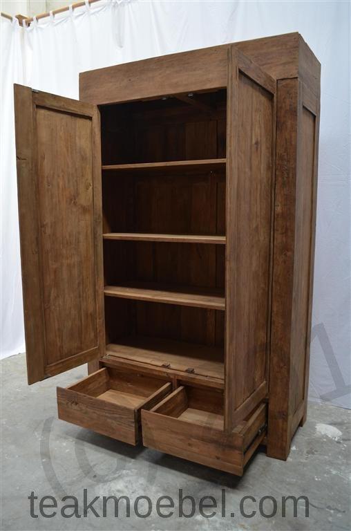 teak kleiderschrank modern dingklik teakm. Black Bedroom Furniture Sets. Home Design Ideas