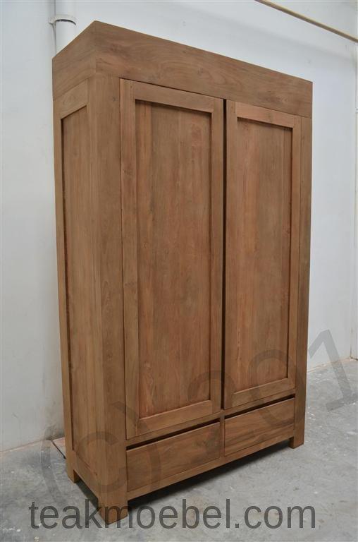 teak kleiderschrank modern teakm. Black Bedroom Furniture Sets. Home Design Ideas