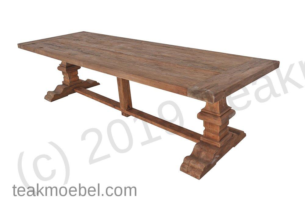 teakholz klostertisch 320x110cm teakm. Black Bedroom Furniture Sets. Home Design Ideas