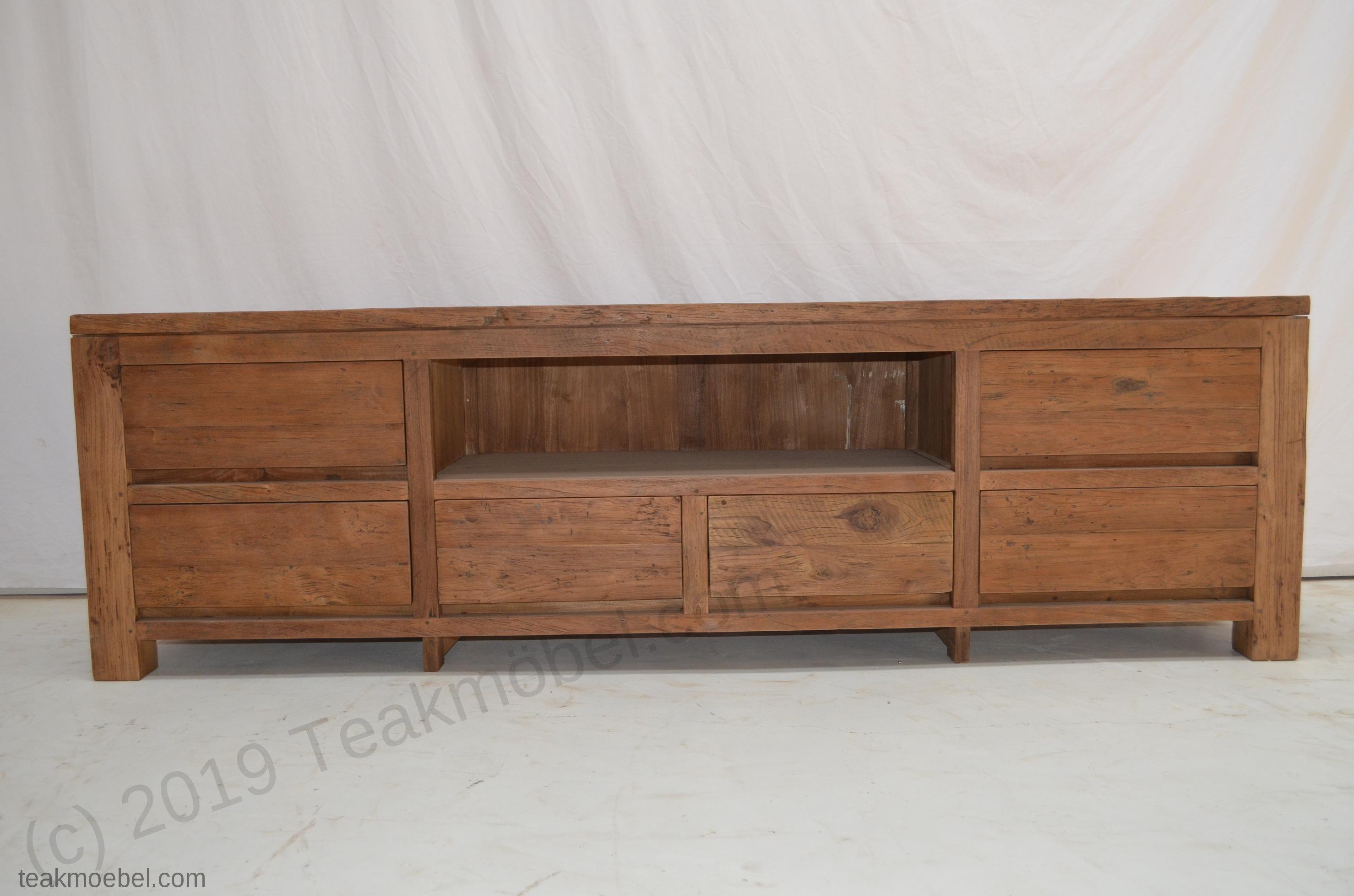 teak sideboard dingklik 200cm teakm. Black Bedroom Furniture Sets. Home Design Ideas