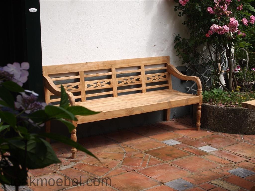 teak holz bahnhofbank 4 personen teakm. Black Bedroom Furniture Sets. Home Design Ideas