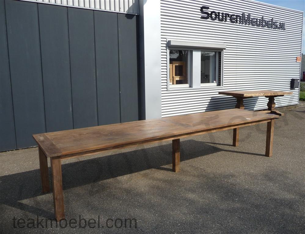 Teak Tisch altes Holz 400 x 100 cm   Teakmöbel.com