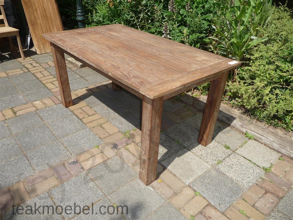 Teakholz tisch  Teak Tisch aus altem Holz 140 x 90 cm | Teakmoebel.com